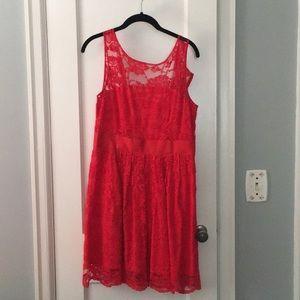 Red lace party dress.  BB Dakota size 6.